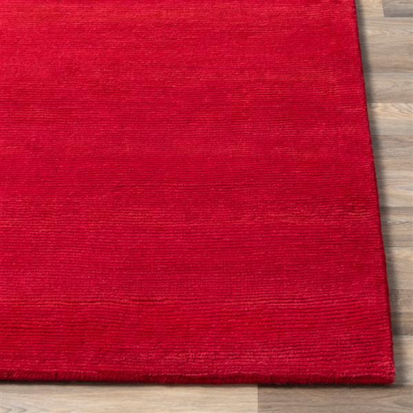 Surya Mystique Solid Area Rug - 9-ft x 13-ft - Rectangular - Garnet