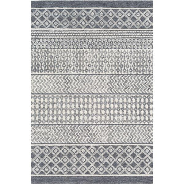 Surya Maroc Bohemian Area Rug - 10-ft x 14-ft - Rectangular - Charcoal