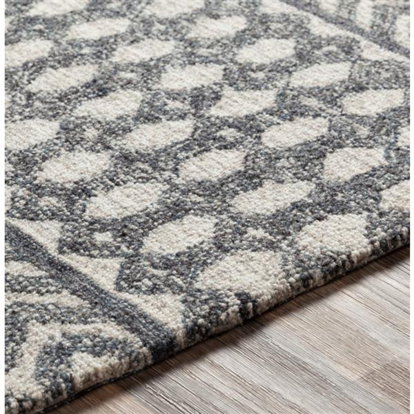 Surya Maroc Bohemian Area Rug - 8-ft x 10-ft - Rectangular - Charcoal
