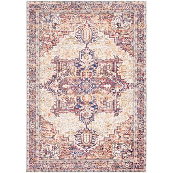 Surya Mahal Updated Traditional Area Rug - 7-ft 10-in x 10-ft 6-in - Rectangular - Cream