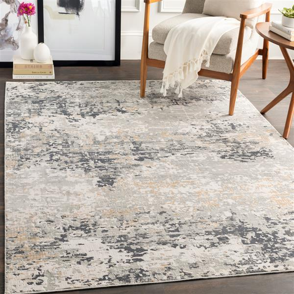 Surya Milano Modern Area Rug - 6-ft 9-in x 9-ft 6-in - Rectangular - Gray
