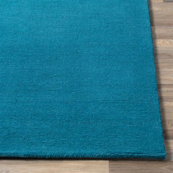 Surya Mystique Solid Area Rug - 9-ft 9-in - Round - Bright Blue