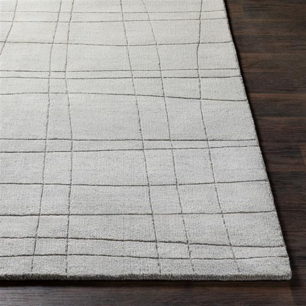 Surya Mystique Solid Area Rug - 3-ft 3-in x 5-ft 3-in - Rectangular - Gray