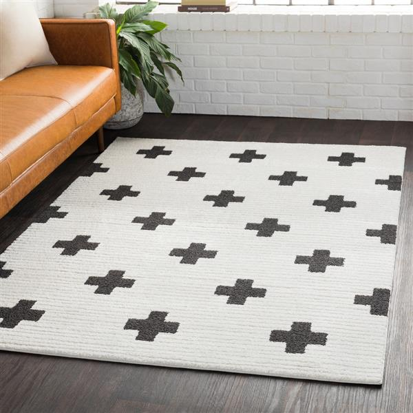 Surya Moroccan Shag Shag Area Rug - 7-ft 10-in x 10-ft 3-in - Rectangular - White