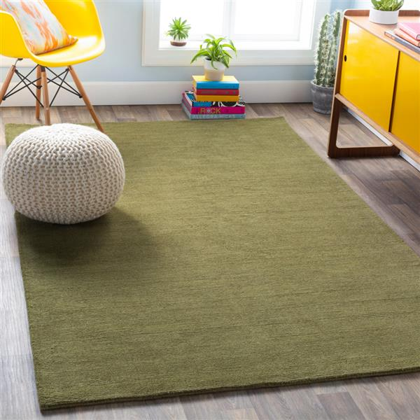 Surya Mystique Solid Area Rug - 9-ft 9-in - Square - Sage