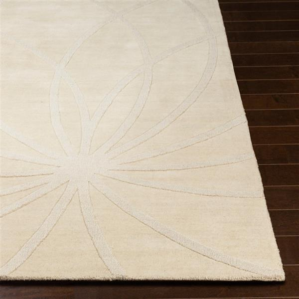 Surya Mystique Solid Area Rug - 8-ft x 11-ft - Rectangular - Khaki