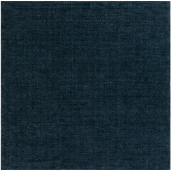 Surya Mystique Solid Area Rug - 9-ft 9-in - Square - Navy