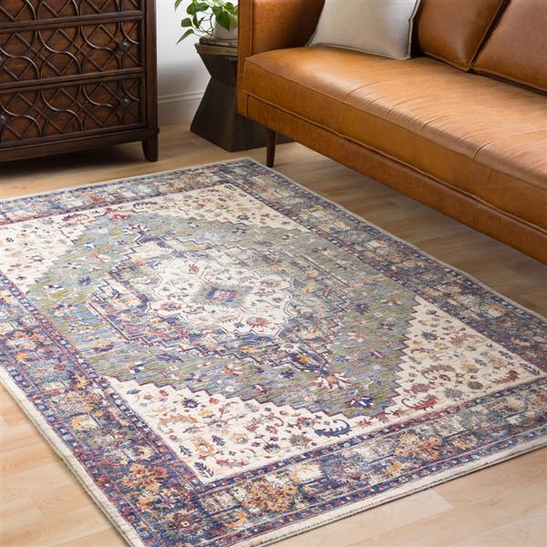 Surya Mahal Traditional Area Rug - 7-ft 10-in x 10-ft 6-in - Rectangular - Green