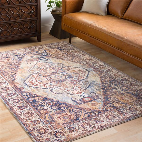 Surya Mahal Traditional Area Rug - 7-ft 10-in x 10-ft 6-in - Rectangular - Cream