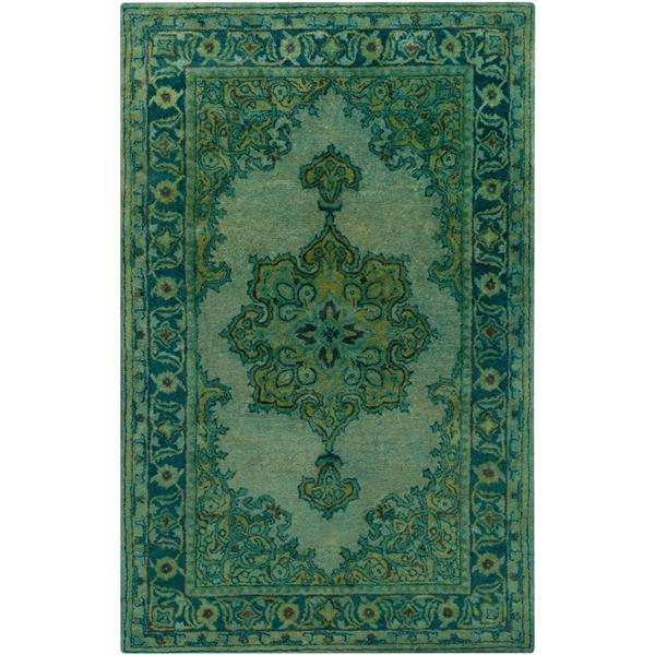Surya Mykonos Updated Traditional Area Rug - 3-ft 3-in x 5-ft 3-in - Rectangular - Green