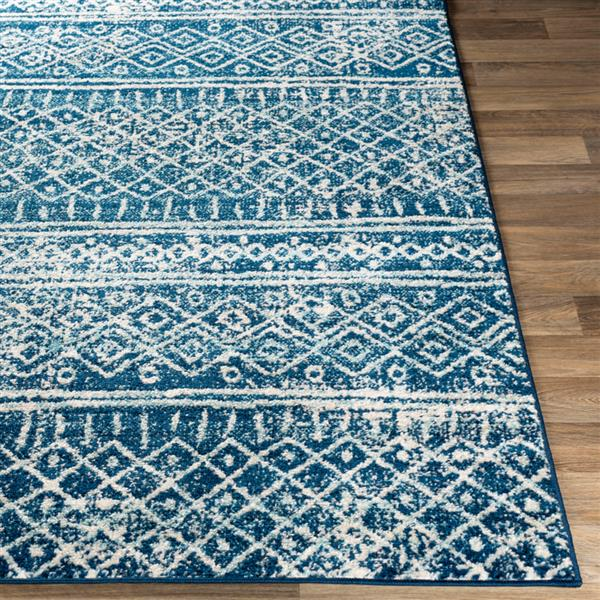 Surya Norwich Bohemian Area Rug - 7-ft 10-in x 10-ft 3-in - Rectangular - Blue