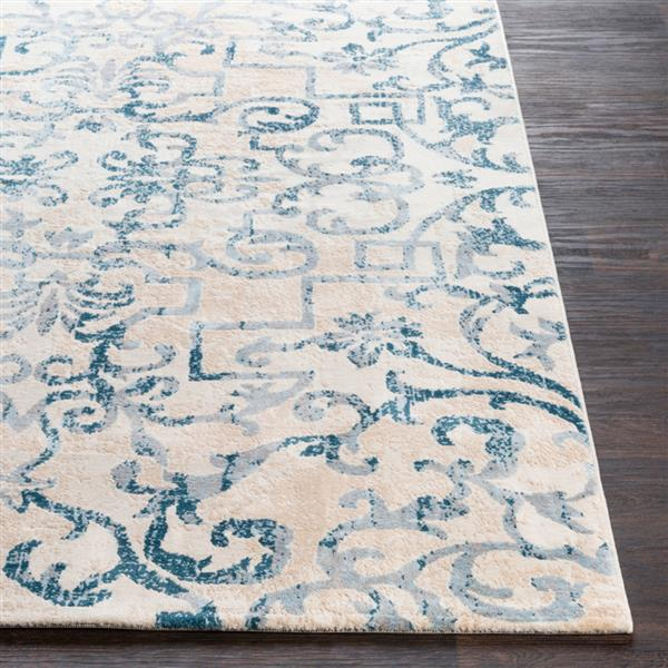 Surya Notting Hill Transitional Area Rug - 7-ft 10-in x 10-ft 3-in - Rectangular - Teal/Beige