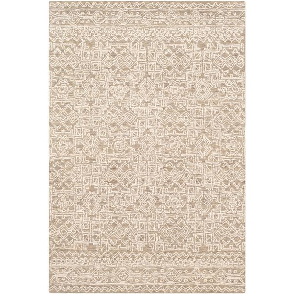 Surya Newcastle Transitional Area Rug - 4-ft x 6-ft - Rectangular - Taupe