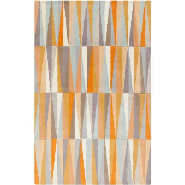 Surya Oasis Modern Area Rug - 8-ft x 11-ft - Rectangular - Orange