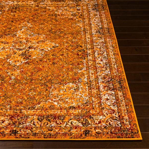 Surya Mumbai Updated Traditional Area Rug - 7-ft 10-in x 10-ft 3-in - Rectangular - Saffron