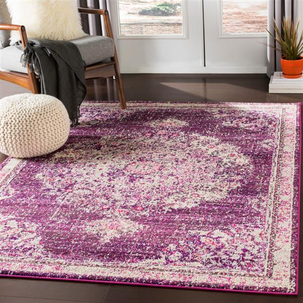 Surya Morocco Updated Traditional Area Rug - 7-ft 10-in x 10-ft 3-in - Rectangular - Fuchsia