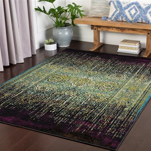 Surya Mumbai Updated Traditional Area Rug - 7-ft 10-in x 10-ft 3-in - Rectangular - Green