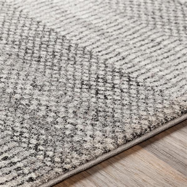 Surya Nepali Bohemian Area Rug - 6-ft 7-in x 9-ft 6-in - Rectangular - Gray