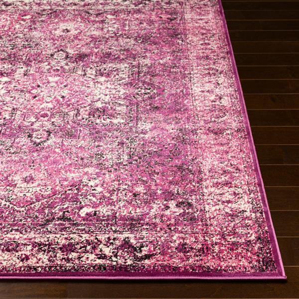 Surya Mumbai Updated Traditional Area Rug - 7-ft 10-in x 10-ft 3-in - Rectangular - Purple