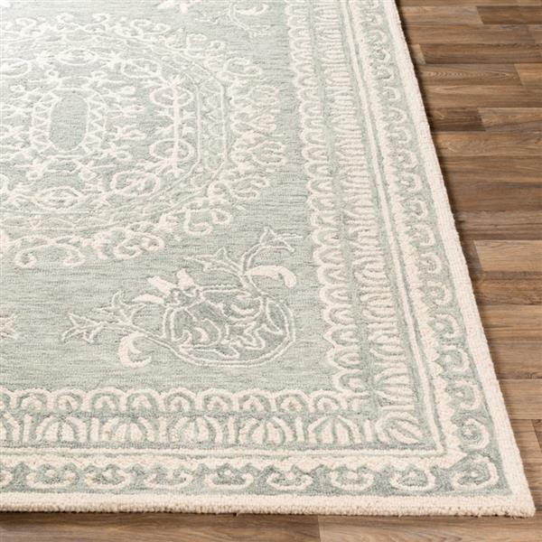Surya Newcastle Traditional Area Rug - 9-ft x 12-ft - Rectangular - Seafoam