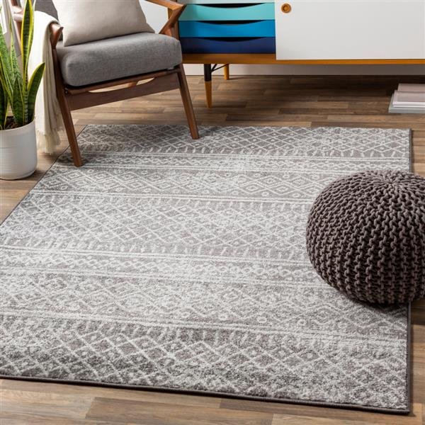 Surya Norwich Bohemian Area Rug - 7-ft 10-in x 10-ft 3-in - Rectangular - Medium Gray