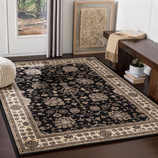 Surya Paramount Traditional Area Rug - 8-ft 10-in x 12-ft 9-in - Rectangular - Black