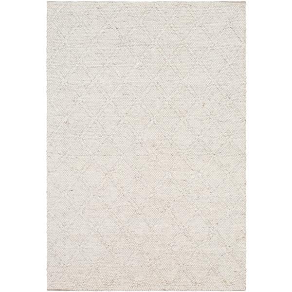 Surya Napels Texture Area Rug - 3-ft x 5-ft - Rectangular - White