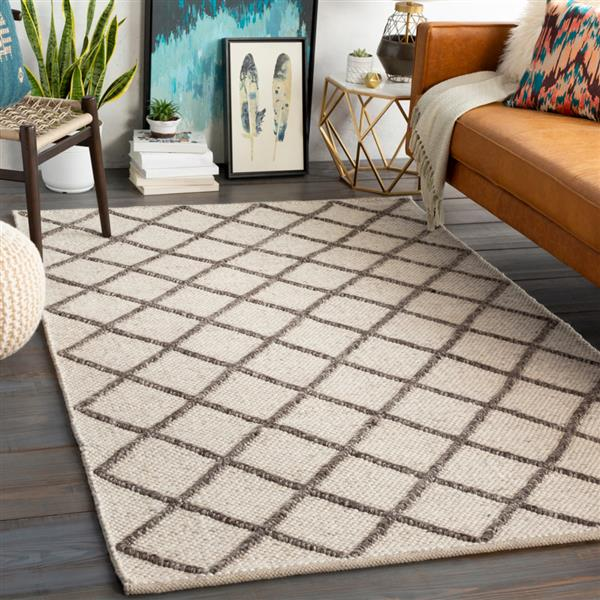Surya Napels Texture Area Rug - 10-ft x 14-ft - Rectangular - Cream/Brown
