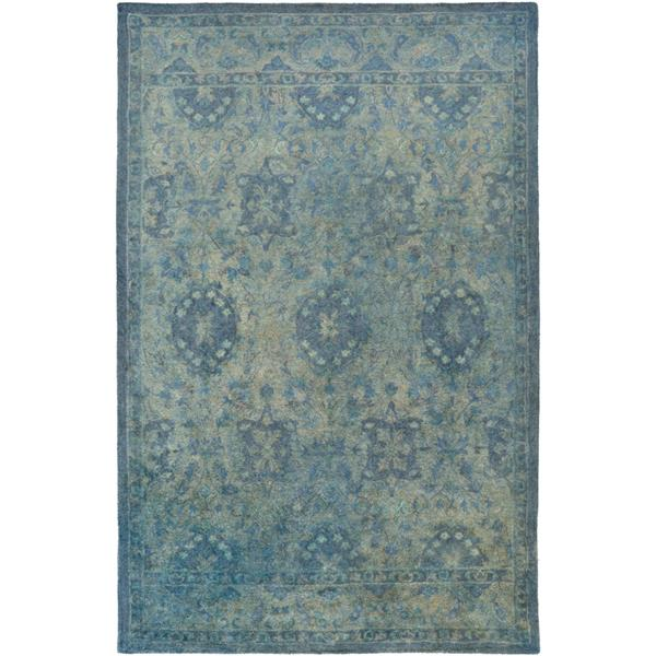 Surya Mykonos Traditional Area Rug - 3-ft 3-in x 5-ft 3-in - Rectangular - Emerald