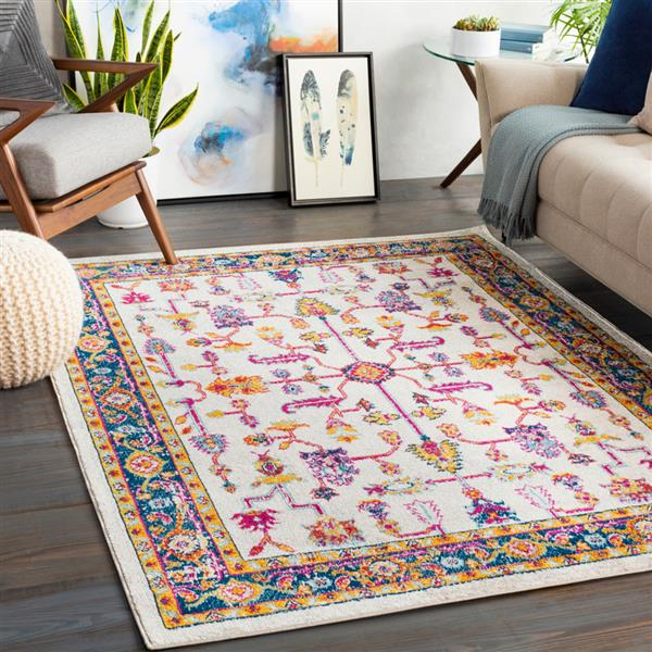 Surya Norwich Bohemian Area Rug - 6-ft 7-in x 9-ft - Rectangular - Orange