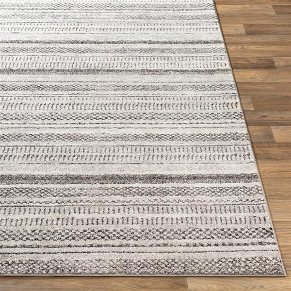 Surya Nepali Bohemian Area Rug - 7-ft 10-in x 10-ft 3-in - Rectangular - Gray