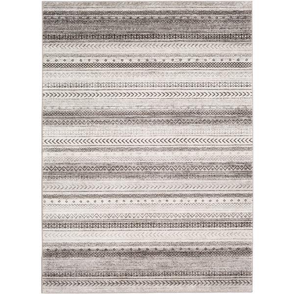 Surya Nepali Bohemian Area Rug - 7-ft 10-in x 10-ft 3-in - Rectangular - Gray