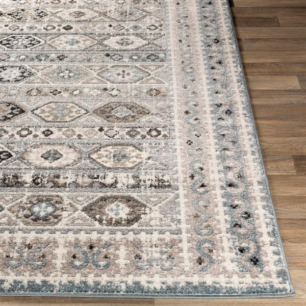 Surya Norwich Bohemian Area Rug - 7-ft 10-in x 10-ft 3-in - Rectangular - Gray