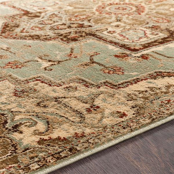 Surya Paramount Updated Traditional Area Rug - 7-ft 9-in x 11-ft 2-in - Rectangular - Sage