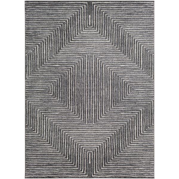 Surya Nepali Bohemian Area Rug - 9-ft 3-in x 12-ft 3-in - Rectangular - Black