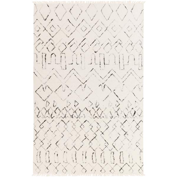Surya Nettie Bohemian Area Rug - 6-ft x 9-ft - Rectangular - Cream