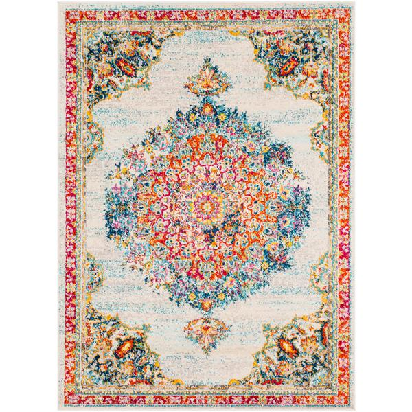 Surya Morocco Updated Traditional Area Rug - 9-ft 3-in x 12-ft 3-in - Rectangular - Teal
