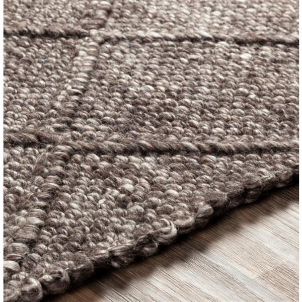 Surya Napels Texture Area Rug - 9-ft x 12-ft - Rectangular - Dark Brown