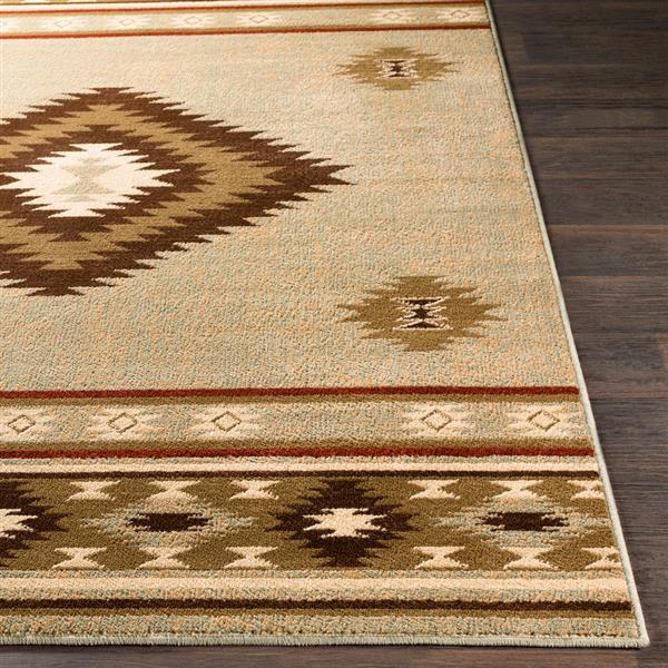 Surya Paramount Bohemian Area Rug - 7-ft 9-in x 11-ft 2-in - Rectangular - Sage