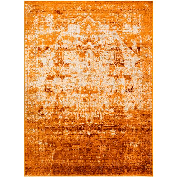 Surya Mumbai Updated Traditional Area Rug - 7-ft 10-in x 10-ft 3-in - Rectangular - Saffron