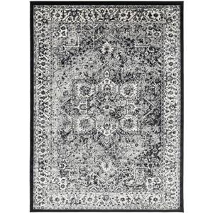 Surya Mumbai Updated Traditional Area Rug - 7-ft 10-in x 10-ft 3-in - Rectangular - Black