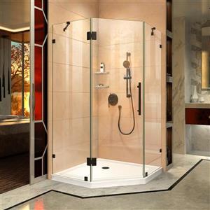 DreamLine Prism Lux Shower Enclosure - Frameless Design - 36.31-in - Satin Black