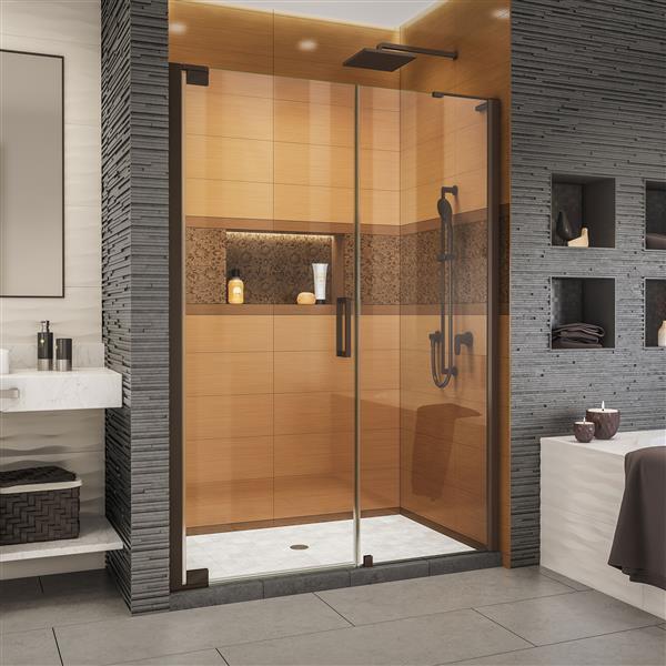 DreamLine Elegance-LS Shower Door - Frameless Design - 56-58-in - Oil Rubbed Bronze
