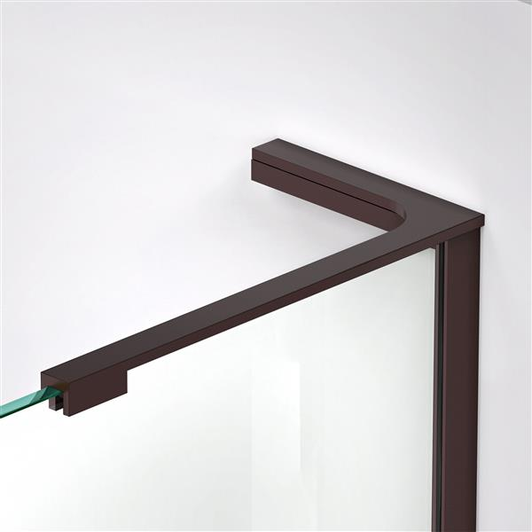DreamLine Elegance-LS Shower Door - Frameless Design - 44.75-46.75-in - Oil Rubbed Bronze