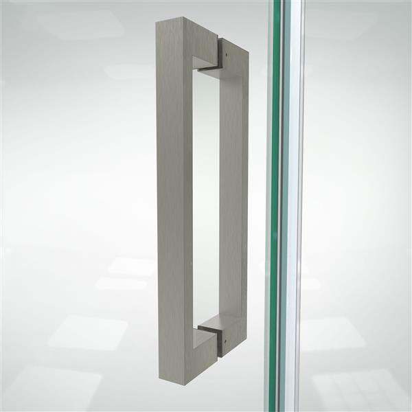 DreamLine Elegance-LS Shower Door - Frameless Design - 38.75-40.75-in - Brushed Nickel