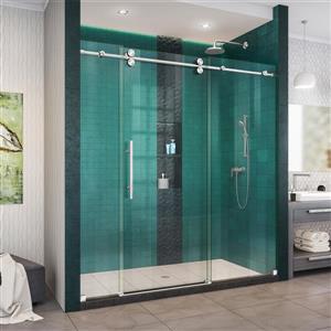DreamLine Enigma-XO Shower Door - Frameless Design - 68-72-in - Polished Stainless Steel