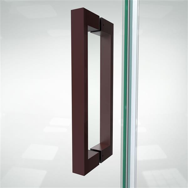 DreamLine Elegance-LS Shower Door - Frameless Design - 41.25-43.25-in - Oil Rubbed Bronze