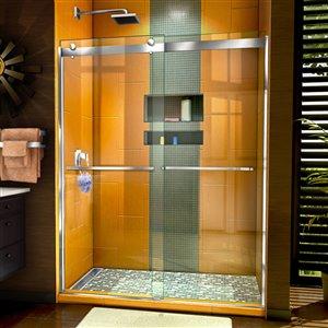Porte de douche Sapphire de DreamLine, design avec cadre, 56-60 po, chrome