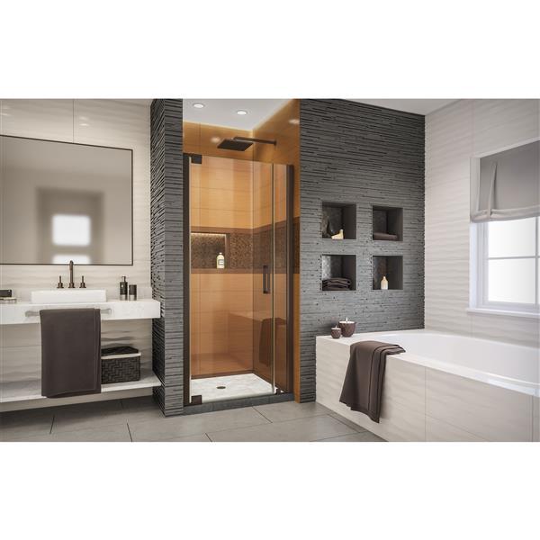 DreamLine Elegance-LS Shower Door - Frameless Design - 32.75-34.75-in - Oil Rubbed Bronze