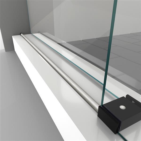 DreamLine Enigma-XO Shower Door - Frameless Design - 56-60-in - Brushed Tuxedo